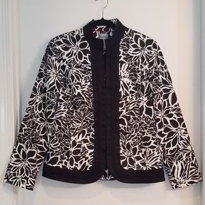 Chico's Floral Print Jacket